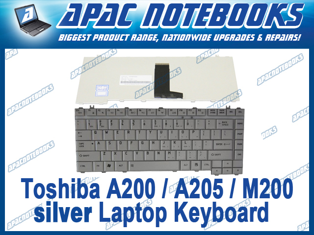 NEW-Keyboard-for-Toshiba-Satellite-L515-L535-M200-M300-Silver-US-layout